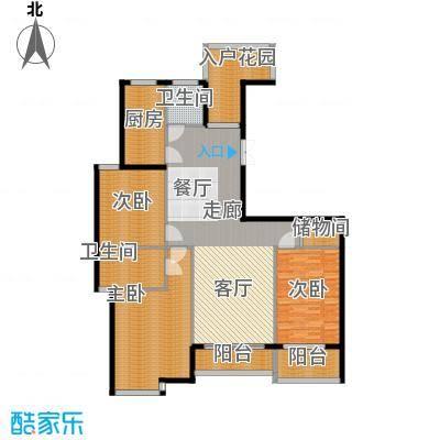 江阴外滩名门164.00㎡江阴外滩名门户型图J户型(3#楼)3室2厅2卫1厨户型3室2厅2卫1厨