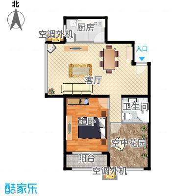 世纪学庭74.92㎡D2户型1室1厅1卫1厨