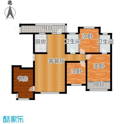 世纪学庭162.85㎡G户型4室1厅2卫1厨
