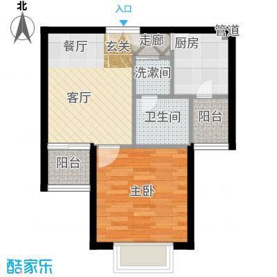南山花园51.51㎡南山花园户型图百福阁B2户型1室1厅1卫户型1室1厅1卫