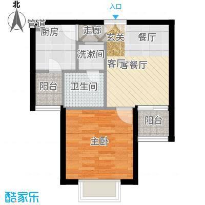 南山花园51.51㎡南山花园户型图百福阁B户型1室1厅1卫户型1室1厅1卫