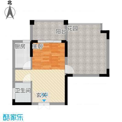 宝安椰林湾52.15㎡宝安椰林湾户型图二期D户型1室户型1室