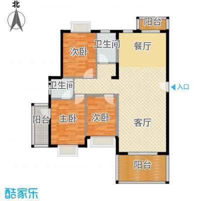 以勒山水国际养生社区119.00㎡A户型3室1厅2卫