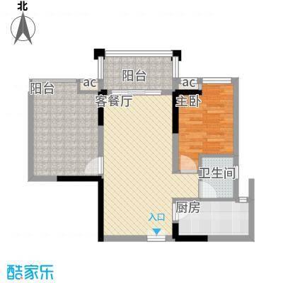 宝安椰林湾67.25㎡宝安椰林湾户型图二期E1户型1室2厅1卫户型1室2厅1卫