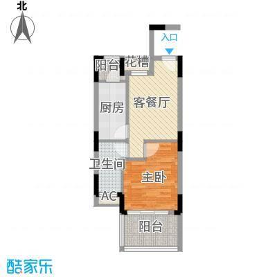信基颐和湾55.00㎡信基颐和湾户型图G9户型1室1厅1卫1厨户型1室1厅1卫1厨