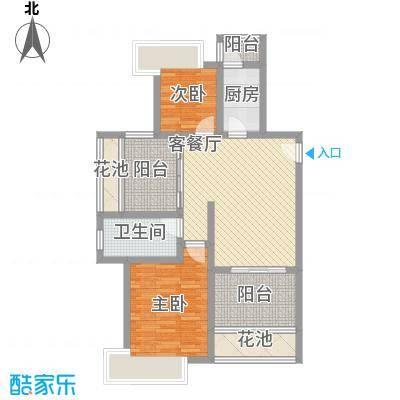半岛阳光87.57㎡半岛阳光户型图C1户型2室2厅1卫1厨户型2室2厅1卫1厨