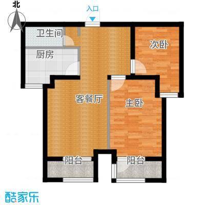 世纪学庭88.01㎡B2户型2室1厅1卫1厨