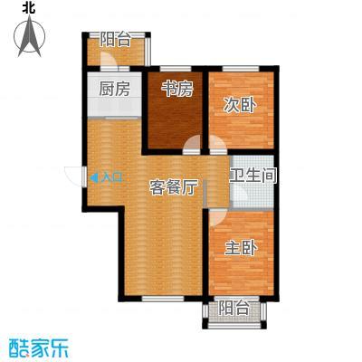 世纪学庭117.16㎡B1户型3室1厅1卫1厨