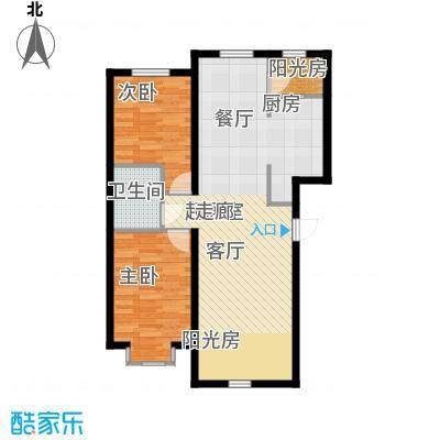 福顺尚景77.87㎡福顺尚景户型图2号楼户型图2室1厅1卫1厨户型2室1厅1卫1厨