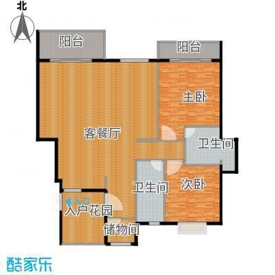 氧立方森林公馆120.00㎡A1户型2室1厅2卫
