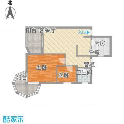 聚仙阁79.81㎡聚仙阁户型图4、5号楼G2户型2室2厅1卫1厨户型2室2厅1卫1厨