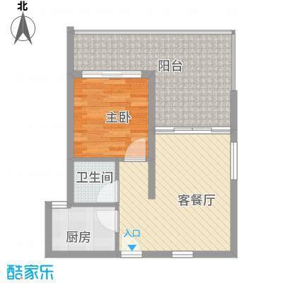 地恒花园62.00㎡地恒花园户型图C型户型图1室1厅1卫1厨户型1室1厅1卫1厨