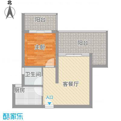 地恒花园60.86㎡地恒花园户型图D型户型图1室2厅1卫1厨户型1室2厅1卫1厨