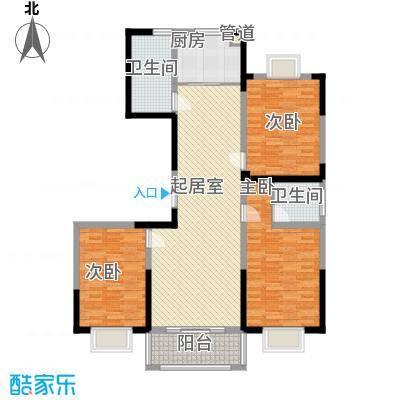 绿润名都137.04㎡绿润名都户型图D5户型3室2厅2卫1厨户型3室2厅2卫1厨