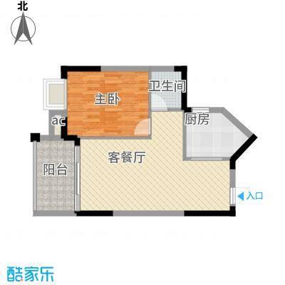 中央绿园63.27㎡中央绿园户型图K户型1室1厅1卫1厨户型1室1厅1卫1厨