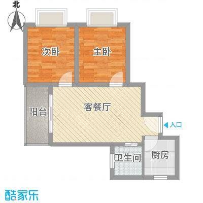 山水兰庭64.86㎡山水兰庭户型图01/04户型图2室2厅1卫1厨户型2室2厅1卫1厨