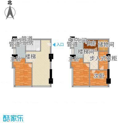 通商华富国际广场户型图Loft-D户型 4室2厅2卫1厨