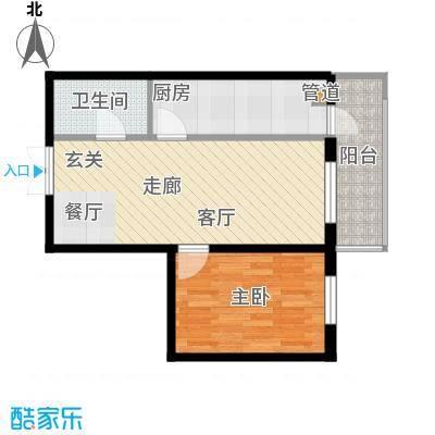 金丰优豪斯48.89㎡金丰优豪斯户型图户型A-31室2厅1卫1厨户型1室2厅1卫1厨