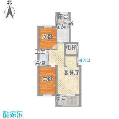 英伦名邸73.62㎡英伦名邸户型图8号楼1单元户型2室2厅1卫1厨户型2室2厅1卫1厨