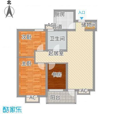 文华名邸102.00㎡文华名邸户型图2、3、4、6、8、9号楼B户型3室2厅1卫1厨户型3室2厅1卫1厨
