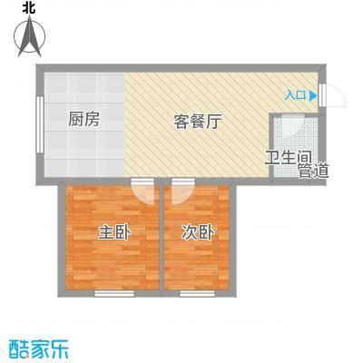 红星家园53.00㎡红星家园户型图一号楼户型2室1厅1卫1厨户型2室1厅1卫1厨