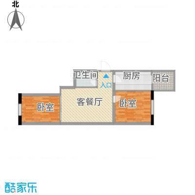 应赫金海城47.80㎡应赫金海城户型图D单元户型2室1厅1卫1厨户型2室1厅1卫1厨