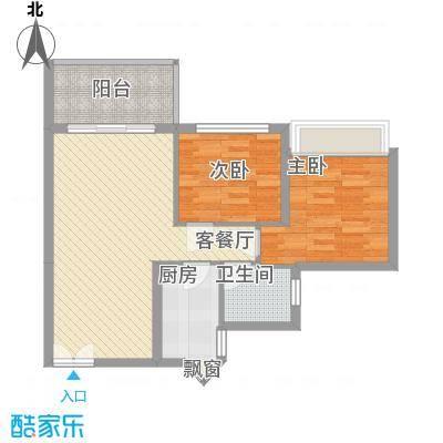 海韵陵河假日76.84㎡海韵陵河假日2-B户型10室