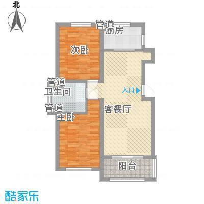 温哥华森林63.01㎡温哥华森林户型图11层小高层户型-12室2厅1卫1厨户型2室2厅1卫1厨