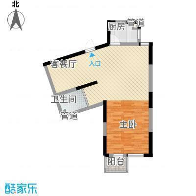 波溪丽亚湾70.00㎡波溪丽亚湾户型图13、14、15#楼G2-1户型图1室2厅1卫1厨户型1室2厅1卫1厨