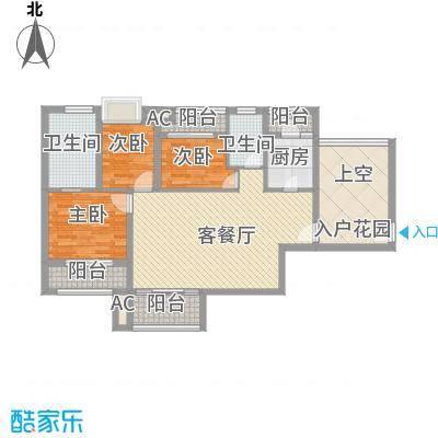 时光俊园106.29㎡4-7号楼A户型3室2厅1卫2厨约106.29㎡户型3室2厅1卫2厨