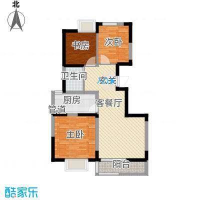 西岸国际花园93.40㎡西岸国际花园户型图D户型3室2厅1卫1厨户型3室2厅1卫1厨