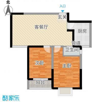 西岸国际花园88.00㎡西岸国际花园户型图C户型图2室2厅1卫1厨户型2室2厅1卫1厨