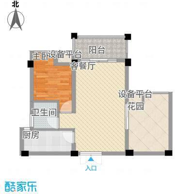 宝安椰林湾宝安椰林湾户型图E户型1室2厅1卫1厨户型1室2厅1卫1厨