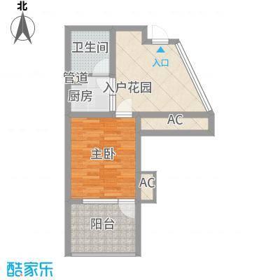 龙潭・温泉印象户型图户型G 1室1厅1卫1厨