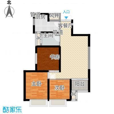 �灞1号96.00㎡�灞1号户型图13号楼户型13室2厅1卫1厨户型3室2厅1卫1厨