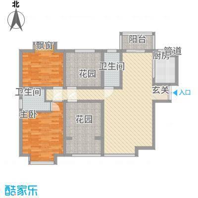�灞1号127.77㎡�灞1号户型图B户型4室2厅2卫1厨户型4室2厅2卫1厨