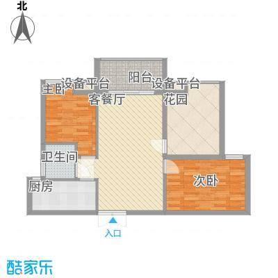 宝安椰林湾宝安椰林湾户型图F3户型2室2厅1卫1厨户型2室2厅1卫1厨