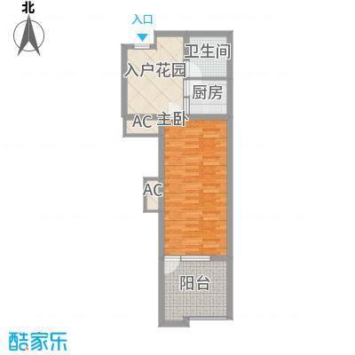 龙潭・温泉印象户型图户型J 1室2厅1卫1厨