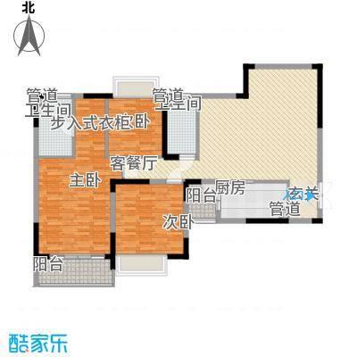 恒大绿洲3室2厅2卫1厨户型图150.00㎡