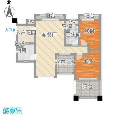塞维亚海岸98.00㎡塞维亚海岸户型图10栋F户型2室2厅1卫1厨户型2室2厅1卫1厨