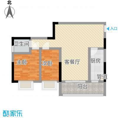 孟乐新城75.71㎡孟乐新城户型图E2户型2室2厅1卫1厨户型2室2厅1卫1厨