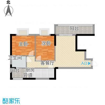 孟乐新城86.44㎡孟乐新城户型图D1户型2室2厅1卫1厨户型2室2厅1卫1厨