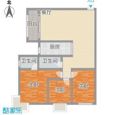 瑞丰新欣城123.94㎡瑞丰新欣城户型图9号楼-D(售完)3室2厅2卫1厨户型3室2厅2卫1厨