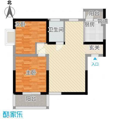明坊85.60㎡明坊户型图3#楼标准层B3户型2室2厅1卫1厨户型2室2厅1卫1厨