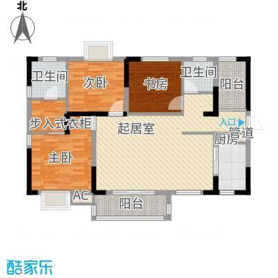 中铁・逸都国际118.90㎡51栋3号户型3室2厅2卫1厨