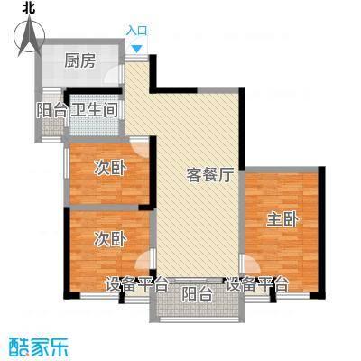世融嘉轩110.00㎡世融嘉轩户型图4号楼C4户型3室2厅1卫1厨户型3室2厅1卫1厨