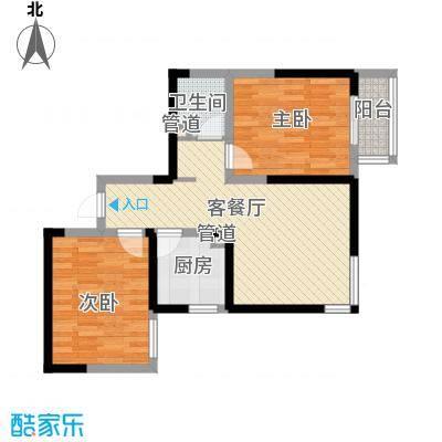 经发新北居73.81㎡经发新北居户型图B2户型3室1厅1卫户型3室1厅1卫