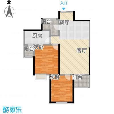 海�台北湾83.96㎡三期3#C1户型2室1厅1厨