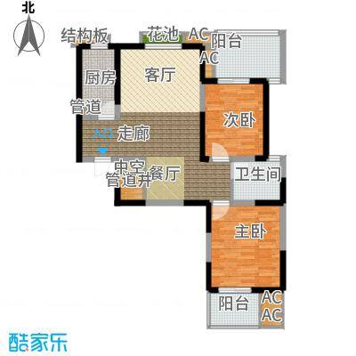 亿龙金河湾94.65㎡亿龙金河湾户型图户型6C2室2厅1卫1厨户型2室2厅1卫1厨