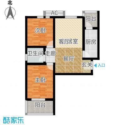 芊域阳光88.40㎡芊域阳光户型图限价商品房C户型2室2厅1卫1厨户型2室2厅1卫1厨